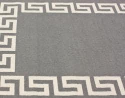 nuLOOM Handmade Flatweave Greek Key Grey Wool Rug (5' x 8')