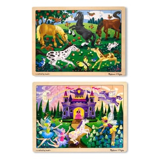 Melissa & Doug Jigsaw Bundle 48-piece Girl Puzzles (Set of 2)