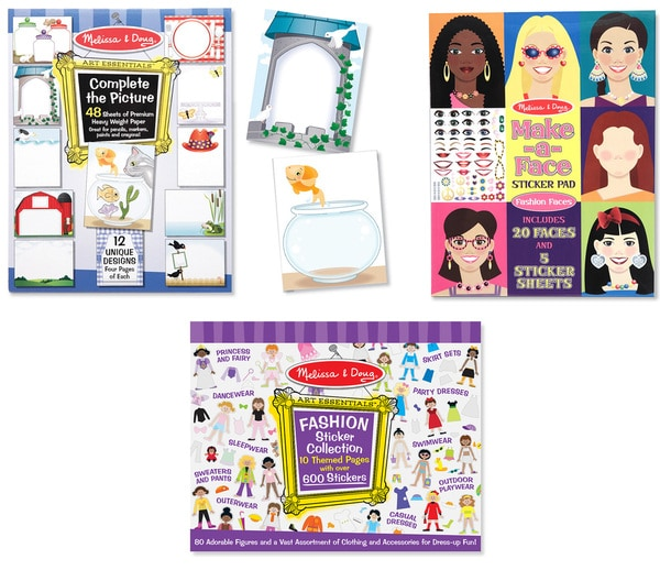 Melissa & Doug Sticker Pad Bundle