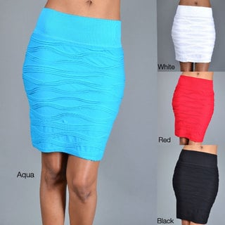 Tabeez Women's Wave Texture Stretch Skirt