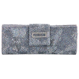 Carlo Fellini 'Mariah' Silver Beaded Clutch