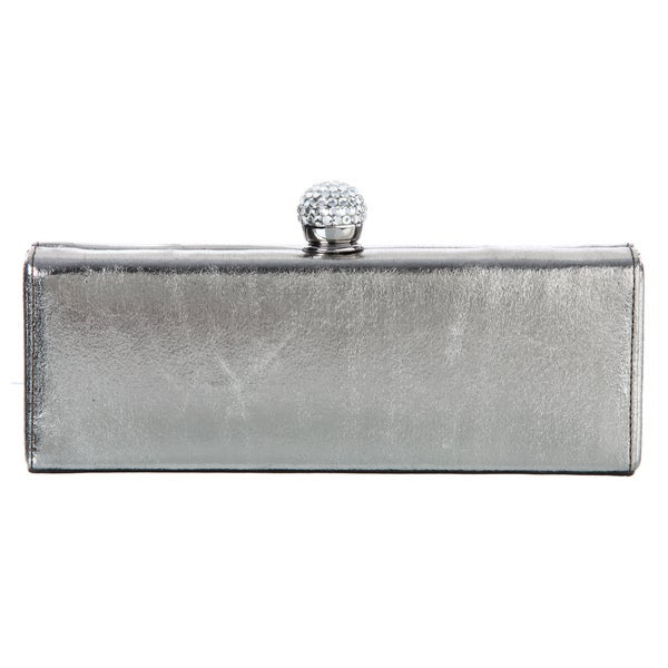 Carlo Fellini Telma Pewter Evening Bag