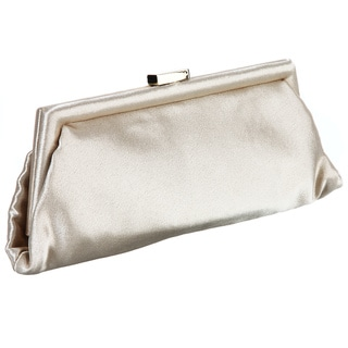 Carlo Fellini 'Brunela' Gold Satin Evening Bag