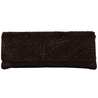 Carlo Fellini 'Nuria' Beaded Brown Evening Bag