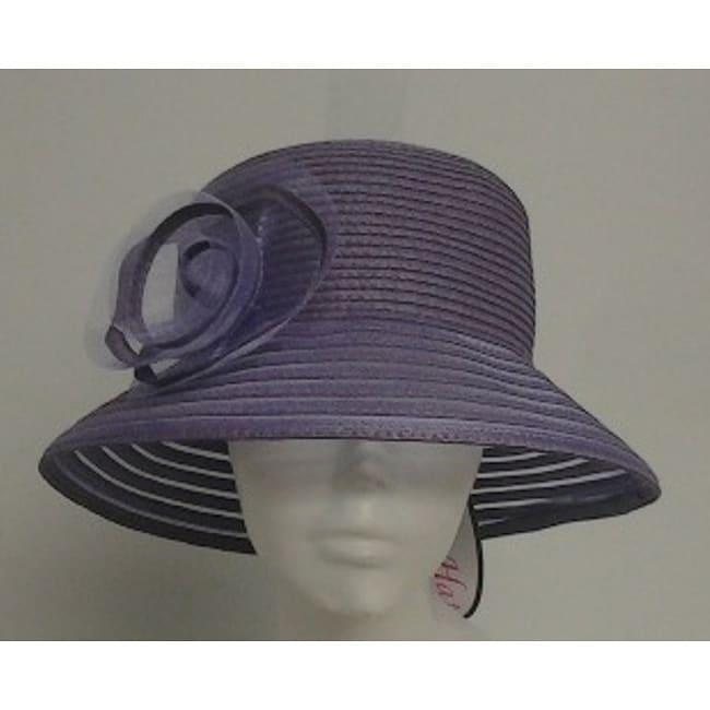 Swan Women's Lavender Braided Floppy Bucket Hat