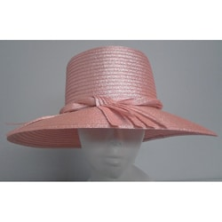 Swan Women's Metallic Peach Floppy Hat