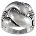 City Style Antique Silver Metal Knot Ring