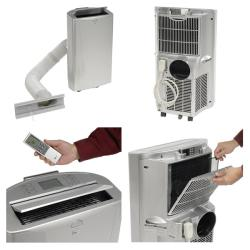 LG LP1411SHR 14,000 BTU Portable Heat and Cool Air Conditioner with LCD Remote (Refurbished)