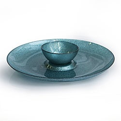 Notions by Jay Glitter Blue Serving Plate