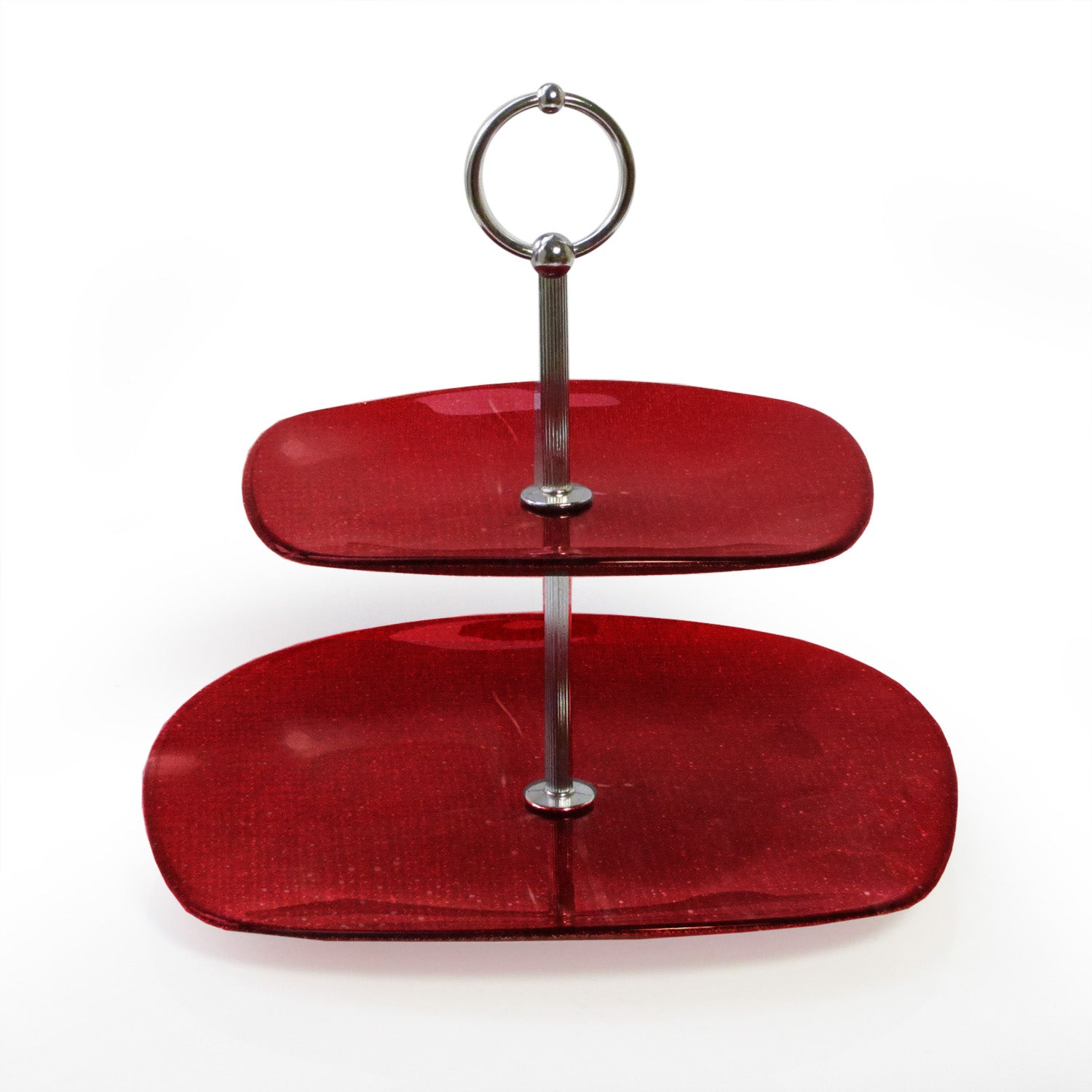Notions by Jay Glitter Red 2-tier Platter