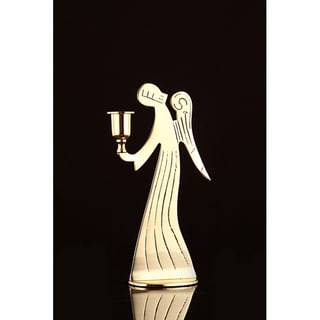 Angel Brass Candle Holder