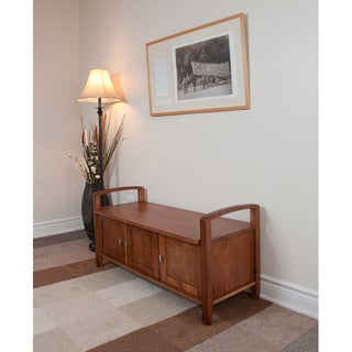 Norfolk Honey Brown Entryway Storage Bench