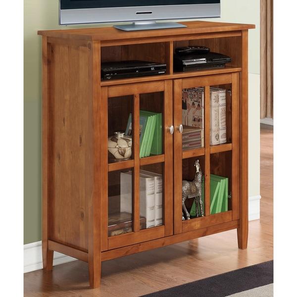 WYNDENHALL Norfolk Honey Brown Medium Storage Media Cabinet & Buffet