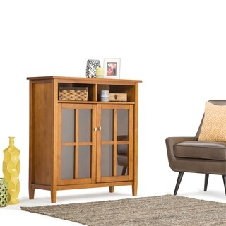 """WYNDENHALL Norfolk SOLID WOOD 39 inch Wide Rustic Medium Storage Media Cabinet - 60""""w x 17""""d x 24"""" h"""