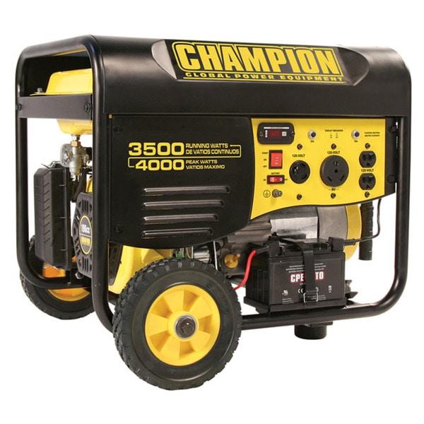 Champion Power Equipment 3,500 Watt Portable Generator with Remote Start and Wheel Kit