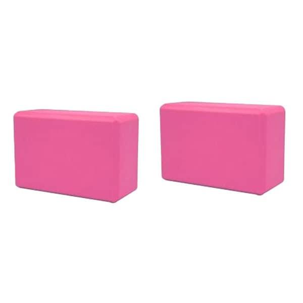 Yoga Saver Pack of Two Lightweight Slip-resistant Pink Foam Blocks