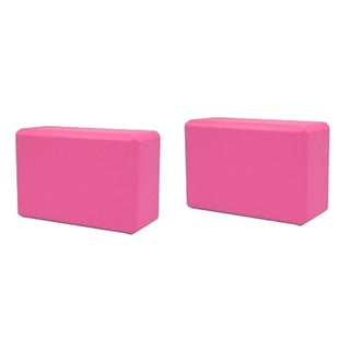 Yoga Saver Pack of Two Lightweight Slip-resistant Pink Foam Blocks