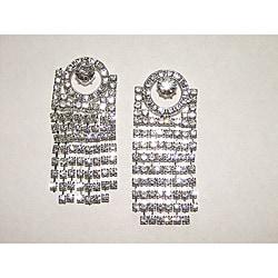 Circle Top Crystal Dangle Earrings