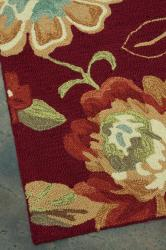 Hand-hooked Freya Red Rug (7' x 9')