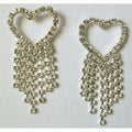 Heart Crystal 7-strand Dangle Earrings