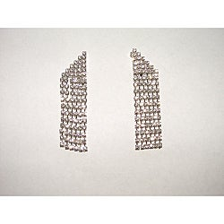 Corner Cut Dangle Crystal Earrings