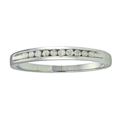 14k White Gold 1/8ct TDW Diamond Eternity Band