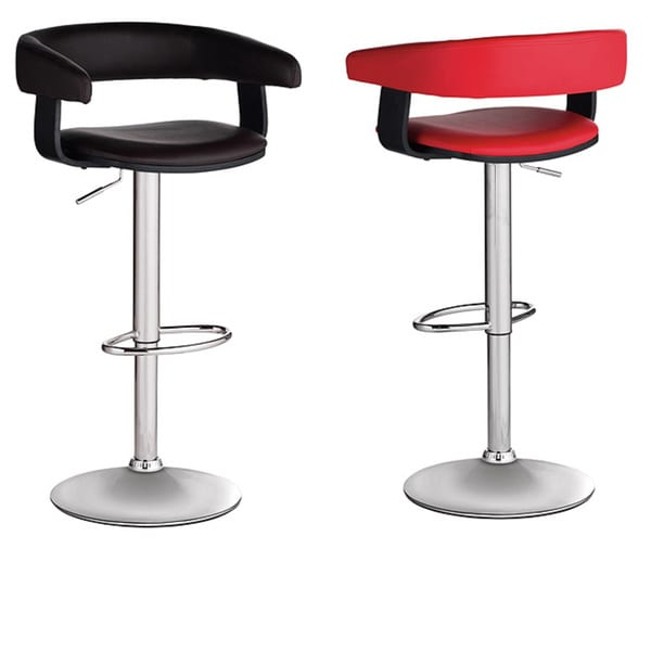 Sunpan Sergio Adjustable Chrome Barstool 9123334