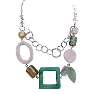 Mother of Pearl and Lampwork Necklace
