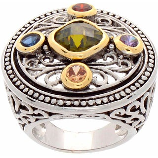 Nexte Jewelry Multi-color Stone Filigree Ring