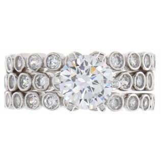 NEXTE Jewelry Nexte Jewelry Triple Eternity Band Set