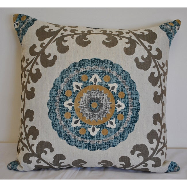 Sherry Kline 'Quay' Teal Blue 26-inch Pillow