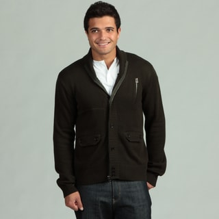 MG Black Men's Shawl Collar Cardigan FINAL SALE