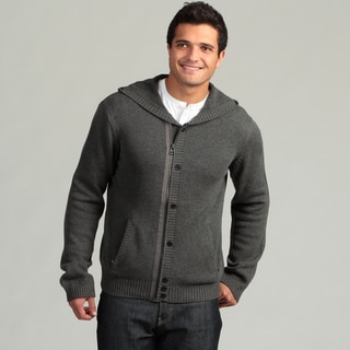 MG Black Men's Charcoal Hooded Cardigan FINAL SALE