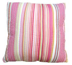 Patty Pink Striped Decrotive Pillow