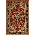 Elegant Medallion Red Non-skid Runner Rug (1' 8 x 4'11)