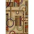 Metro Geometric Natural Non-skid Rug (1' 8 x 4'11)
