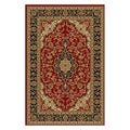 Elegant Medallion Red Non-skid Rug (2' x 6'10)