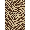 Zebra Brown Non-skid Rug (2' x 3'3)