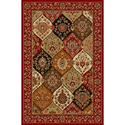 Panel Classic Red Non-skid Rug (6'6 x 9'2)