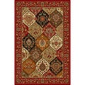 Panel Classic Red Non-skid Rug (6&