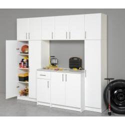 Prepac Winslow White 16-inch Broom Cabinet