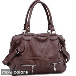 Dasein Faux Leather Belted Shoulder Bag