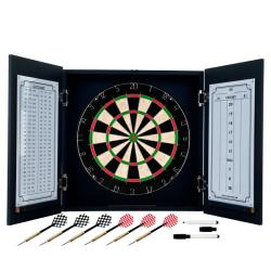 Trademark Poker TG Black Laminate Self-healing Dart Cabinet Set
