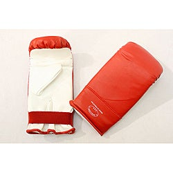 Defender Red/ White Medium MMA Style Punching Gloves