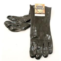 Defender Black Rubber Working Gloves for Gardening/Heavy-duty Cleaning