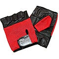Defender Red Small Leather Fingerless Gloves