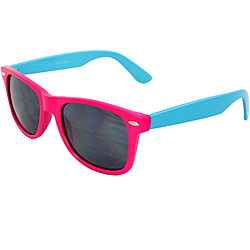 Retro Pink/ Blue Smoke Lens Sunglasses