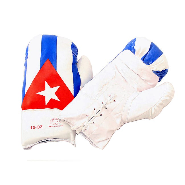 Defender 16 ounce Cuban Flag Boxing Gloves