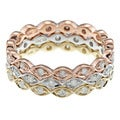 Beverly Hills Charm 10k Gold 3/5ct TDW Diamond Stackable Eternity Band Ring (Set of 3)