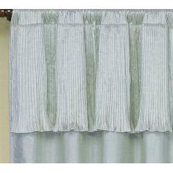 Tabitha Silk-rich Panel with Attached Valance